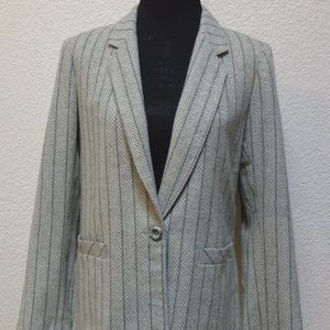 Women's Koret Gray Wool Blend Blazer Size 12